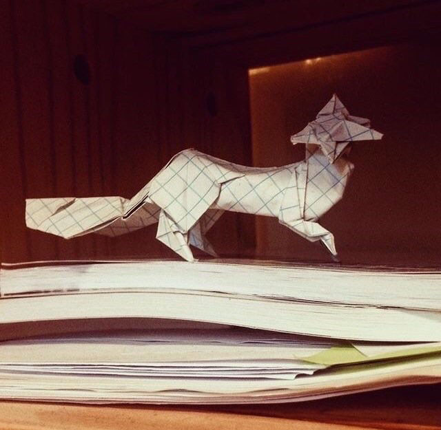 An+origami+fox+by+Tan+Vu.