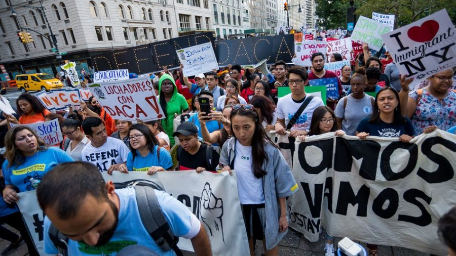 Dreamers protesting for equal rights.