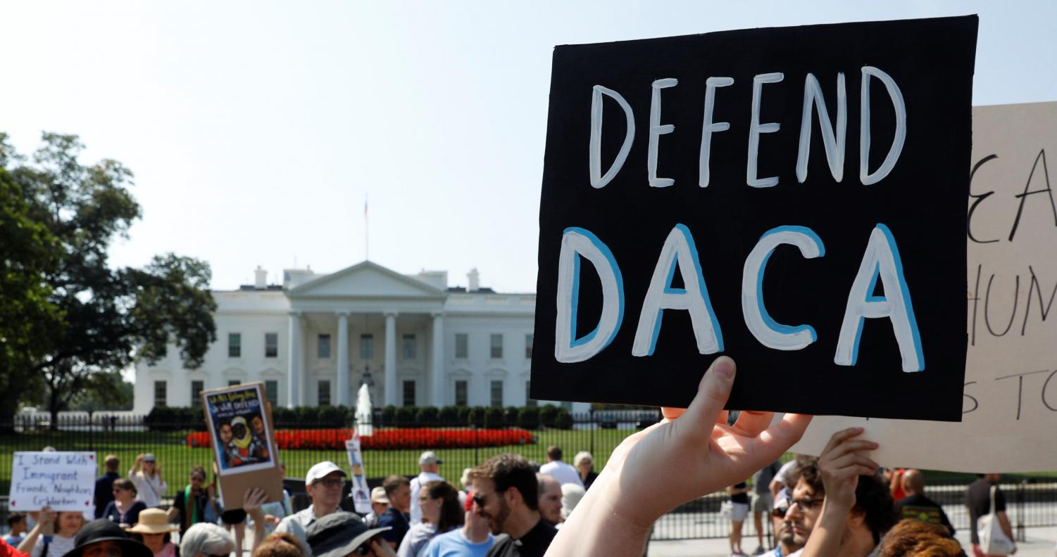 DACA supporters protesting for equal rights.