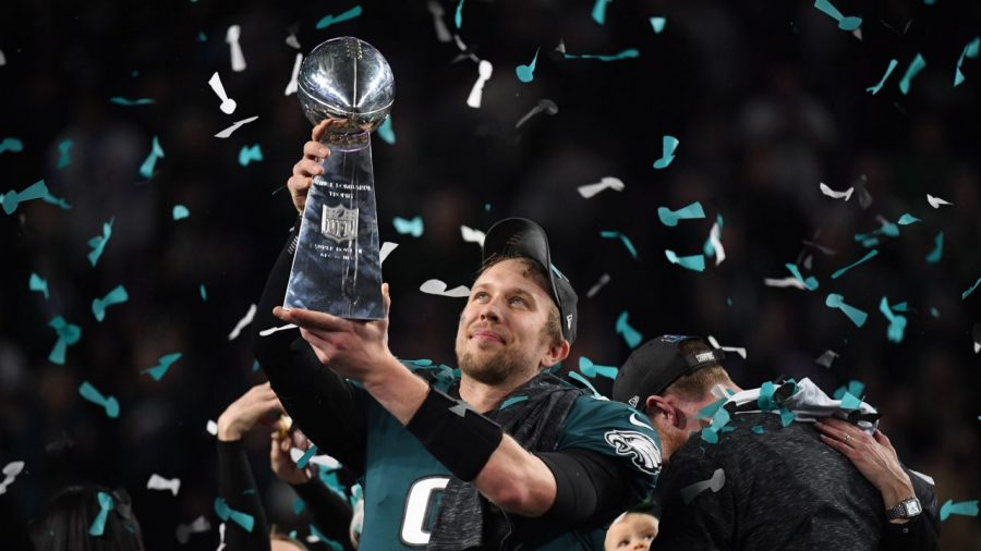 Nick+Foles%2C+the+unlikely+hero+of+Philadelphia%2C+celebrates+his+first+title.